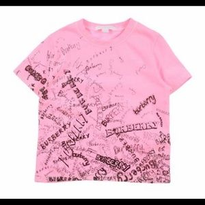 Burberry All Over T shirt Girls